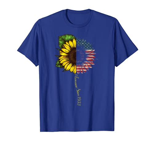 86th Birthday Gift Sunflower Awesome Since 1933 T-shirt