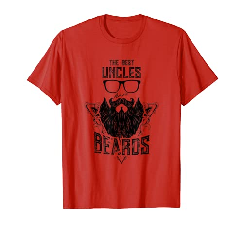 Best Uncles Have Beards – Funny Uncle Beard Gift T-shirt