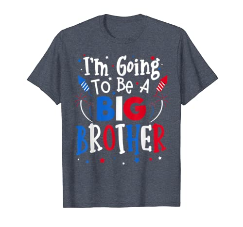 Big Brother Cute 4th Of July Pregnancy Announcement Gift T-shirt