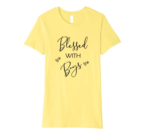 Blessed With Boys Mom T Shirt- Trendy Mother Of Boys Gift