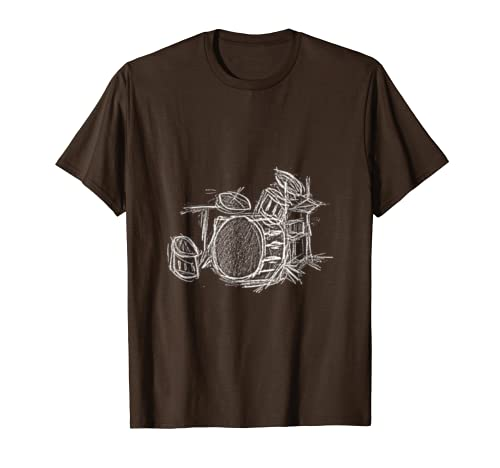 Drums T-shirt For Kids- Band Players- And Music Lovers