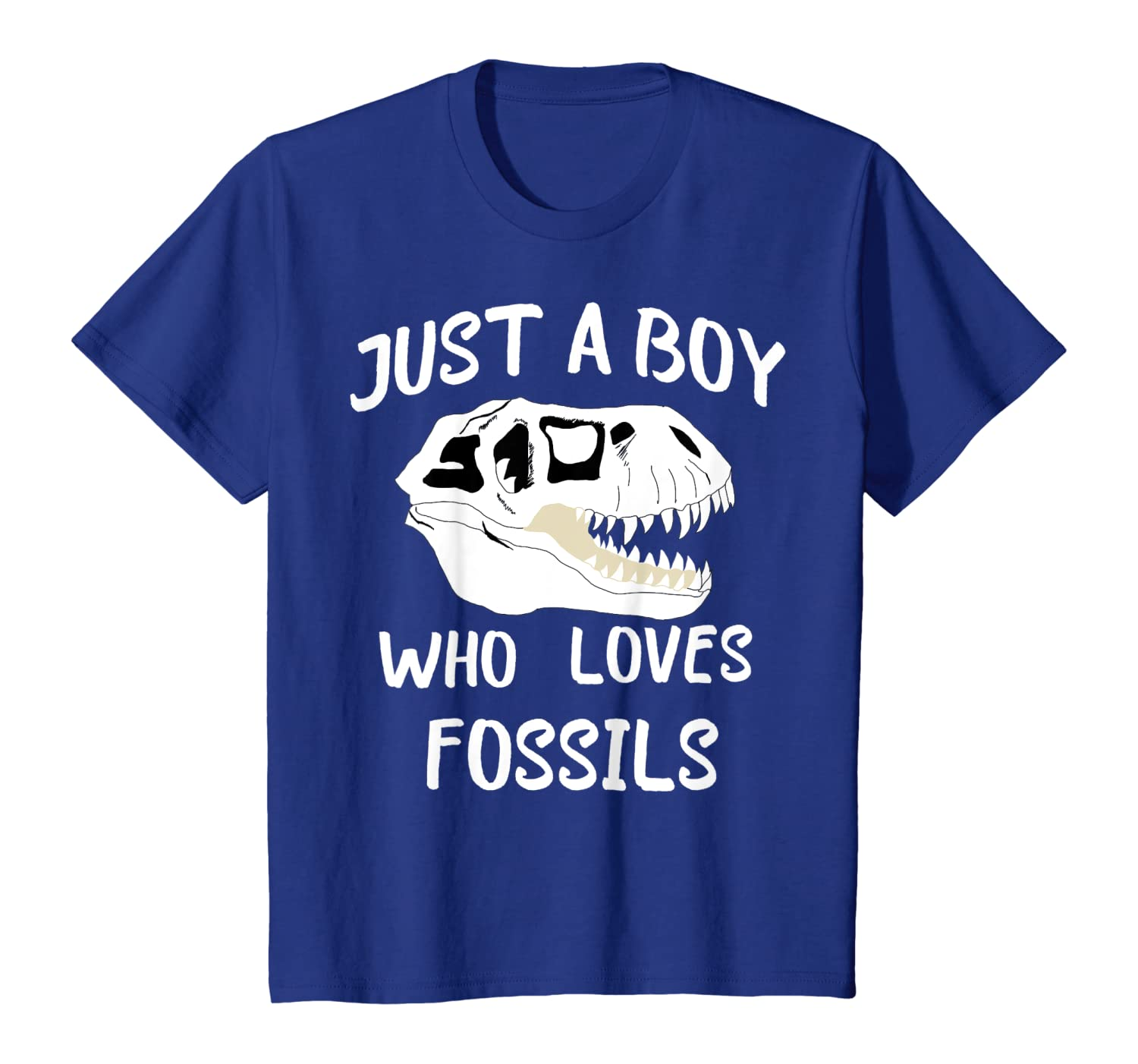 Just A Boy Who Loves Fossils Hunting T Rex Hunter T-shirt
