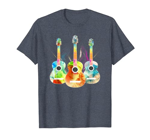 Psychedelic Colorful Guitar Shirt – Rainbow Music Guitarist T-shirt